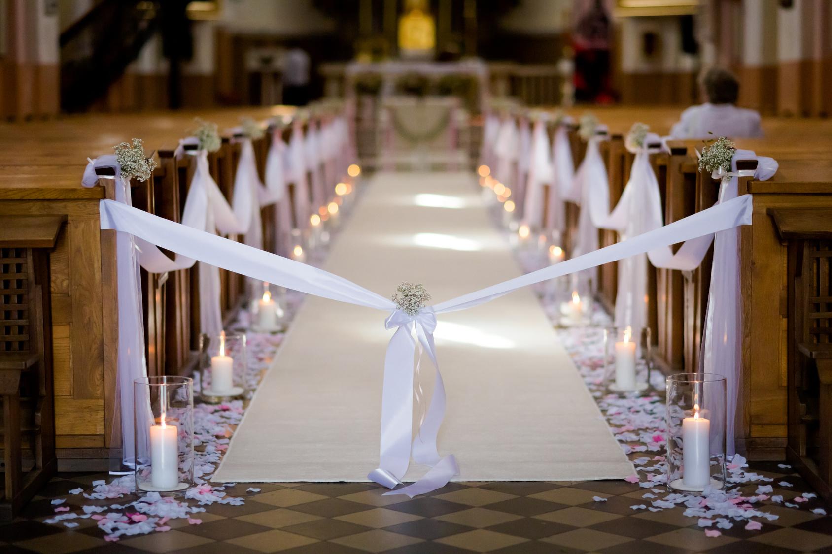 Dekoracje ślubne Dekoracje Sal Weselnych I Kościoła Na ślub